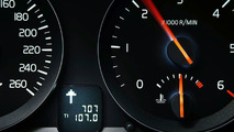 Volvo 1.6D DRIVe Efficiency instrument cluster