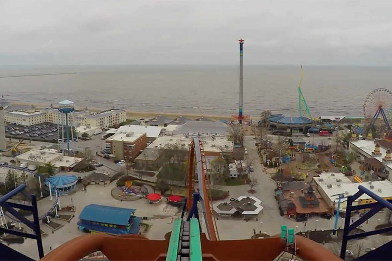 Take a POV Ride on the World's Tallest Dive Roller Coaster