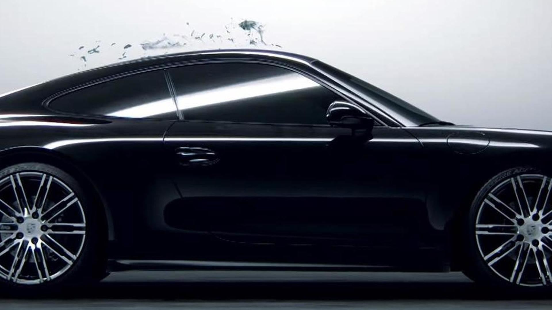 porsche 911 black edition comes to life from black ink in latest promo video product 2015 07 27 162855 - 911 Porsche Black