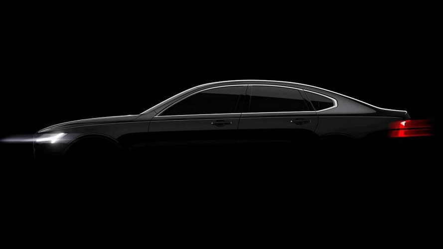 Volvo S90 teased ahead of Detroit reveal in January