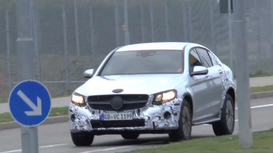 Mercedes-Benz GLC Coupe spied briefly on public roads [video]