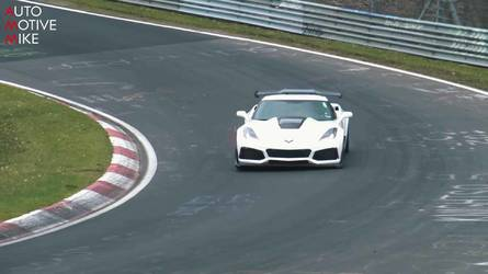 2019 Corvette ZR1s With Weird Exhausts Caught Lapping The 'RIng