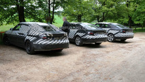 2011 Saab 9-5 Prototype with Uncovered Front & Rear Lights