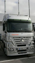 Mercedes-Benz Actros racing car carrier as used for Formula 1. Until the end of the 2009 season.