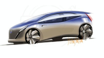 Volvo Electric Vehicle design sketch illustration - 800 - 25.01.2010