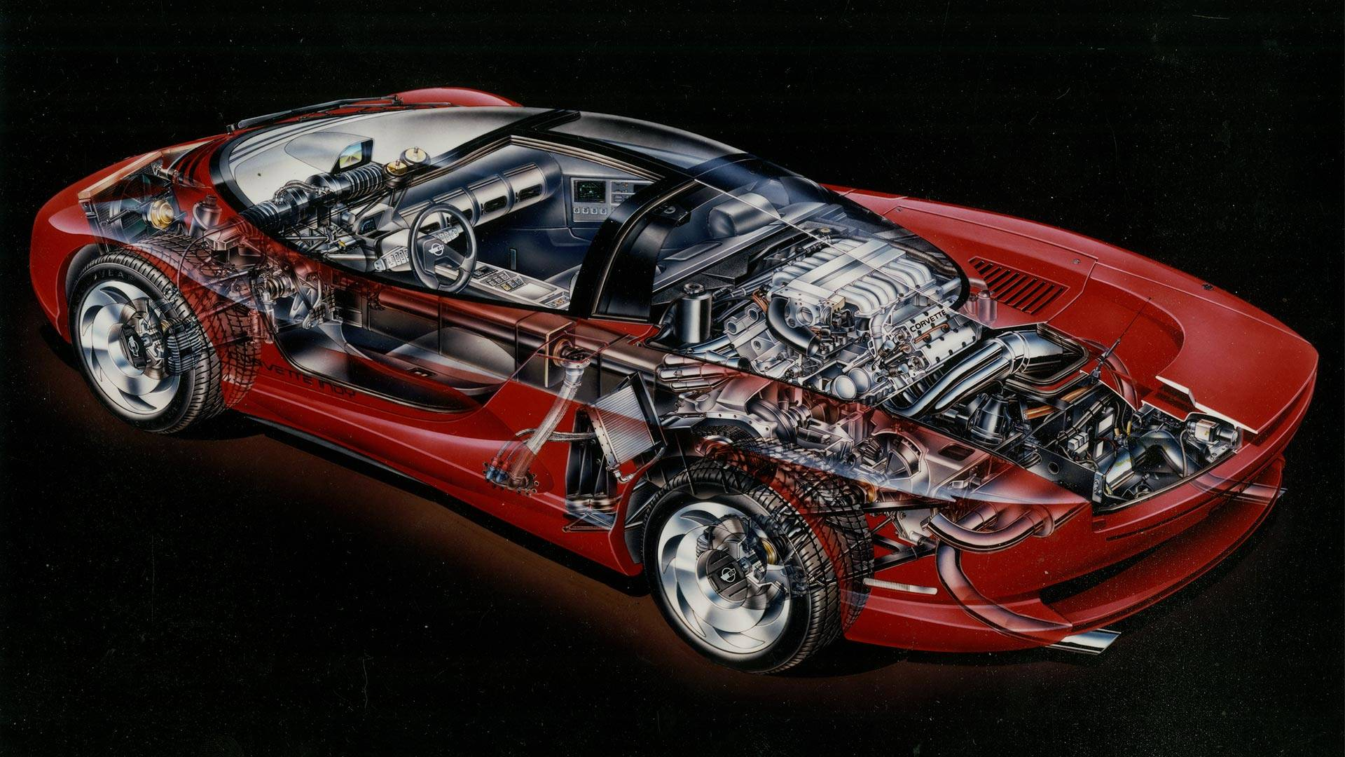 Mid Engine Corvette Indy Cutaway Shows What Could Ve Been