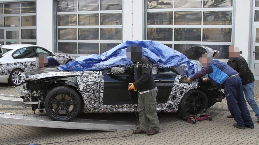 2012 BMW M6 prototype crashes again on Nürburgring