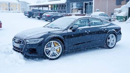 2019 Audi RS7 Test Mule Spied Exercising In The Snow
