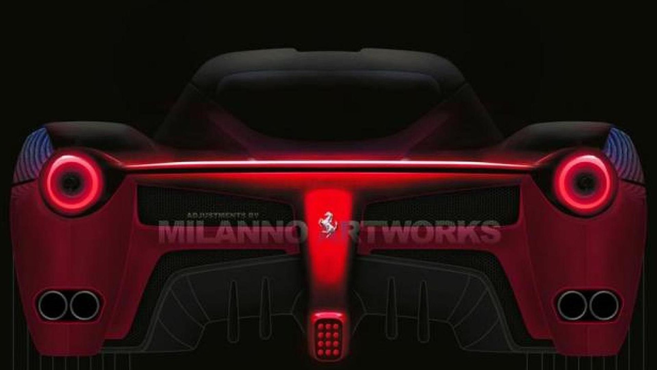 Ferrari F70 rear render based on official teaser photo