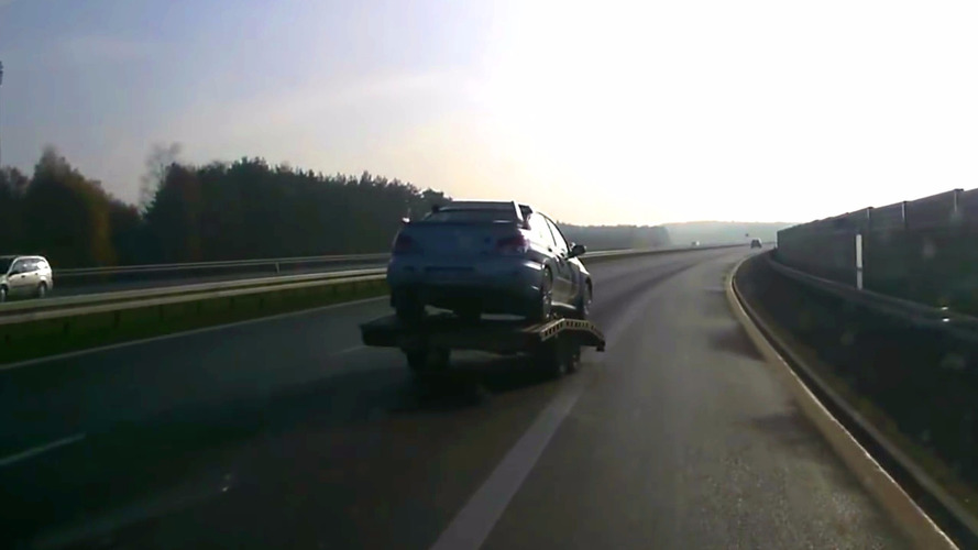 Is this a runaway trailer or a brilliant new invention?