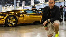 Gold chrome Bugatti Veyron owned by Flo Rida takes flashiness to a new level