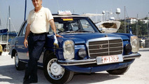 Sachinidis with 1976 Mercedes Benz 240 D