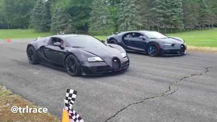 Short Strip Is Great Equalizer In Bugatti Chiron And Veyron Races