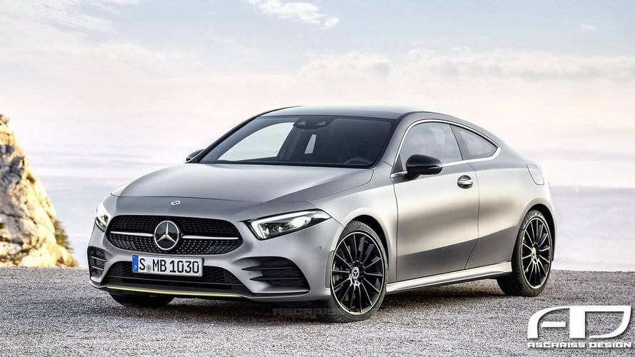 2019 mercedes a class coupe and hot a45 hatchback rendered. Black Bedroom Furniture Sets. Home Design Ideas