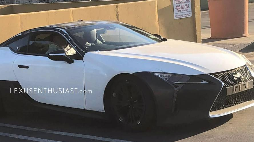 Possible Lexus LC F prototype spy photos