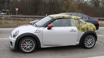 2012 MINI Coupe and MINI JCW Coupe spied on the road