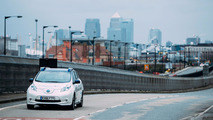 Autonomous Nissan Leaf testing in London