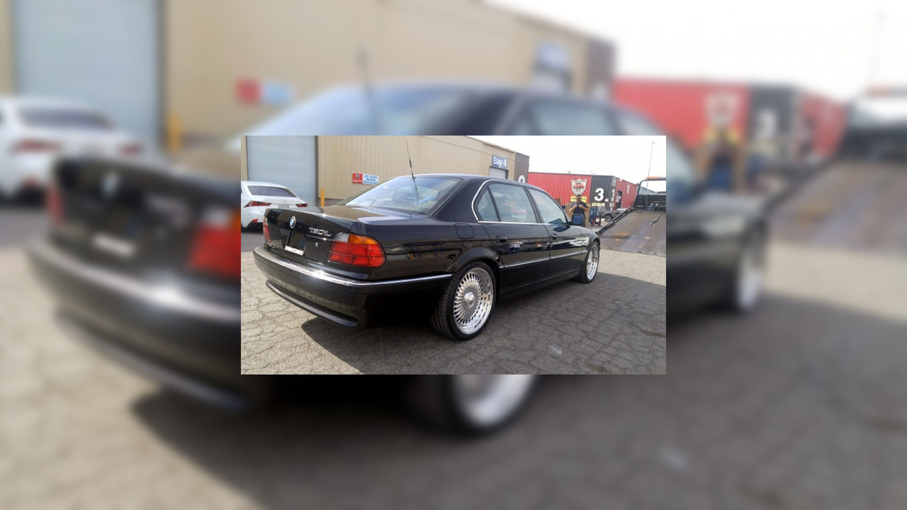 1996 BMW 750 iL Tupac was shot in