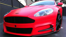 Mansory Aston Martin DBS with Dartz red satin matt wrap 03.01.2012