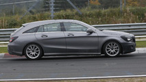 Mercedes-Benz CLA Shooting Brake facelift spy photo