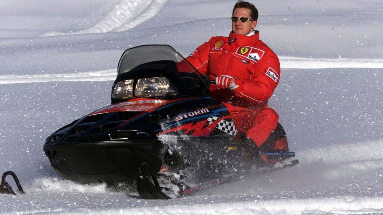 Michael Schumacher on a snow mobile, 10.11.2007