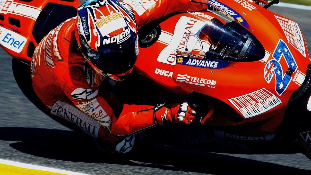 Casey Stoner in action in Mugello