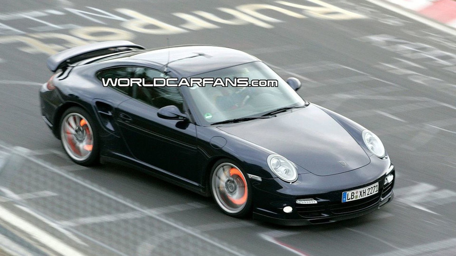Porsche 911 Turbo Facelift Spy Photos on the Ring