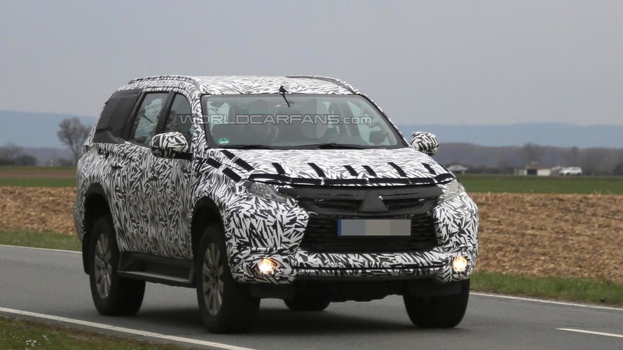 2016 Mitsubishi Pajero Sport spied with heavy camo