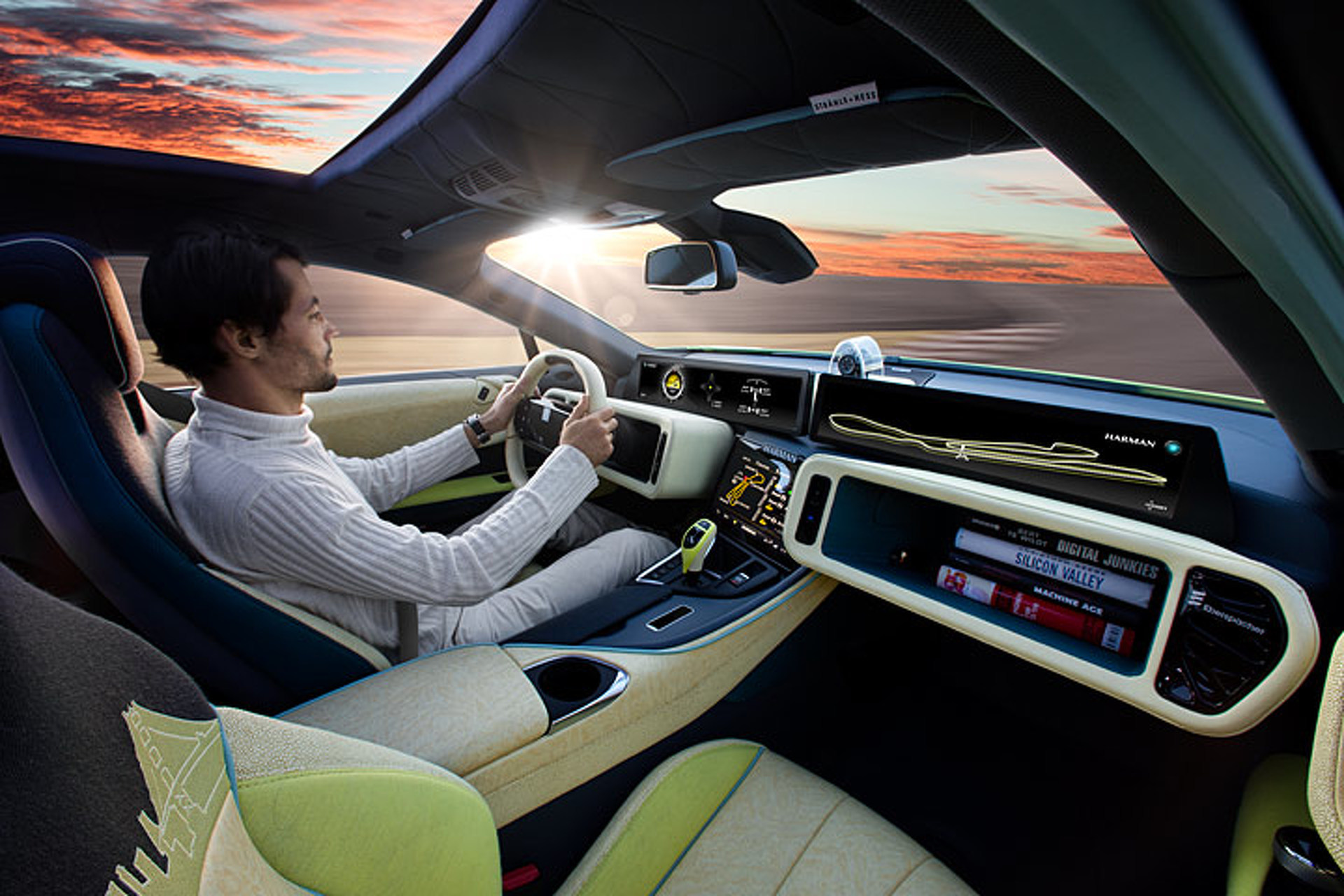 5 things to know about rinspeed s self driving bmw i8. Black Bedroom Furniture Sets. Home Design Ideas