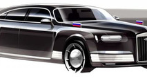 Russian presidential limo concept by Sergei Fedulov 25.2.2013