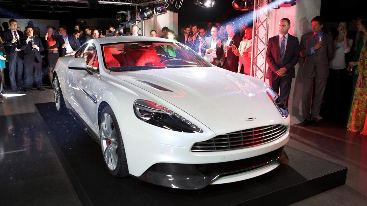 Aston Martin Vanquish launch party