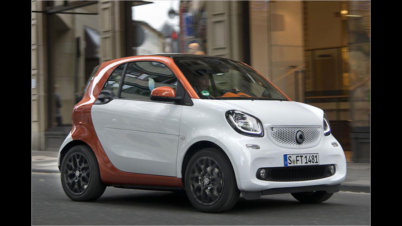 Für die Parkplatzsuche: Smart Fortwo