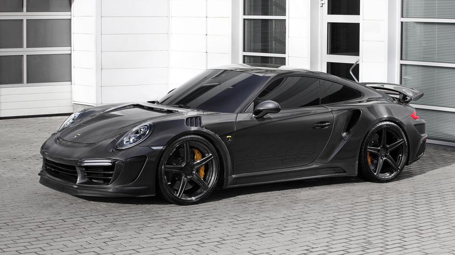 Porsche 911 Turbo'ya karbon fiber gövde ve 660 bg modifiyesi