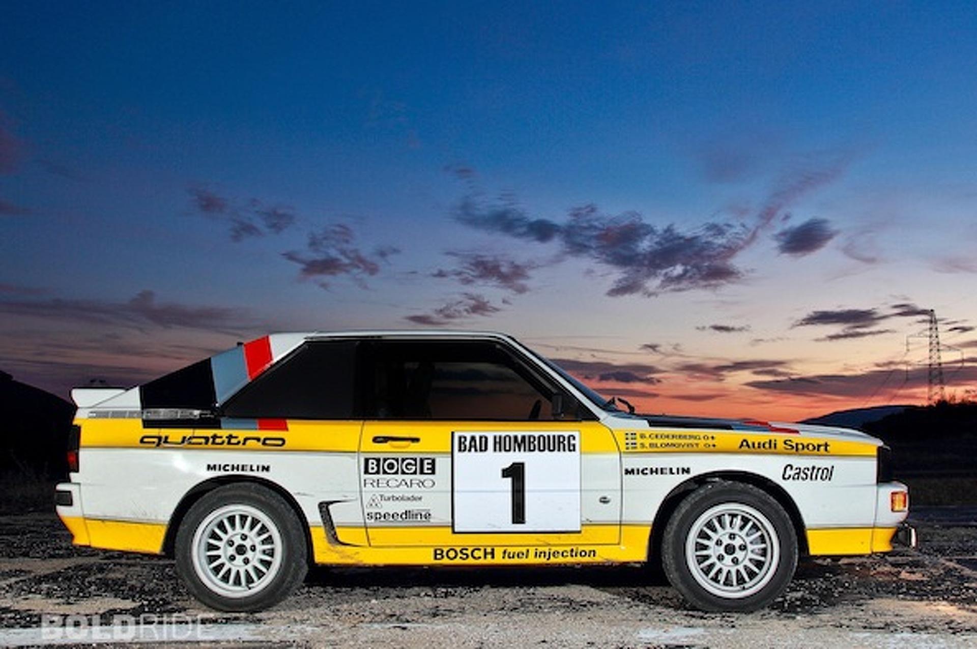 wheels wallpaper 1985 audi quattro group b rally car. Black Bedroom Furniture Sets. Home Design Ideas