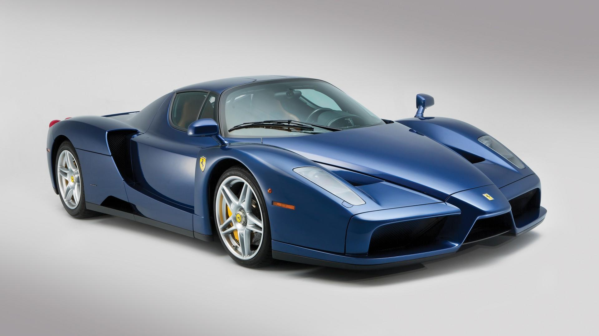 beautiful blue ferrari enzo sells for $2.4m at auction [update]