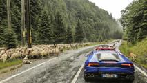 Lamborghini Huracans around the Transfagarasan pass