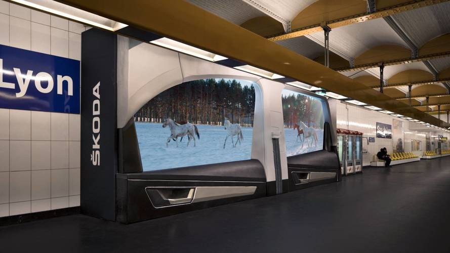 Campagne publicité Skoda Karoq métro Paris