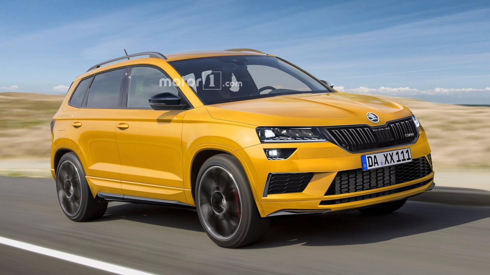 skoda karoq rs 2018 el render que anticipa un nuevo suv deportivo. Black Bedroom Furniture Sets. Home Design Ideas