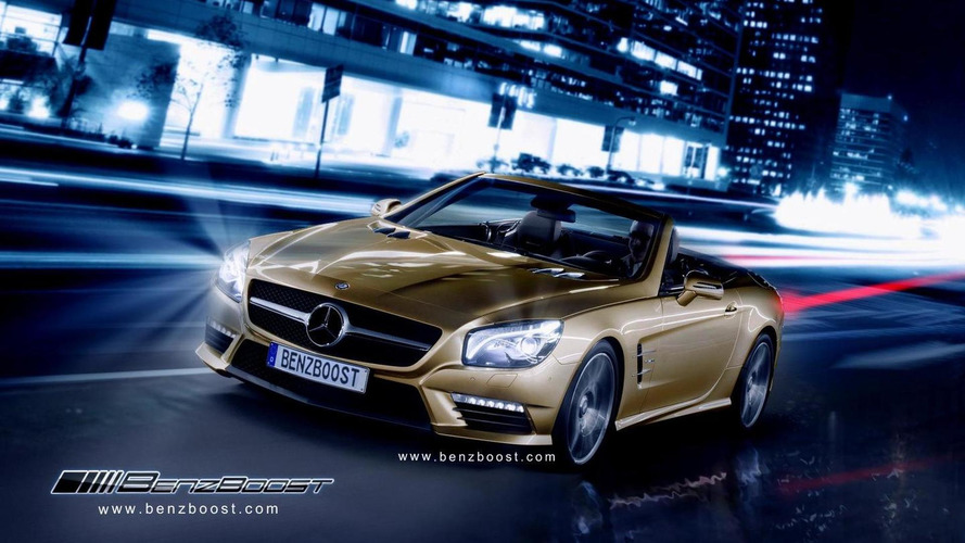 2013 Mercedes SL63 AMG rendered