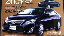 2012 Toyota Camry brochure leak - 27.7.2011