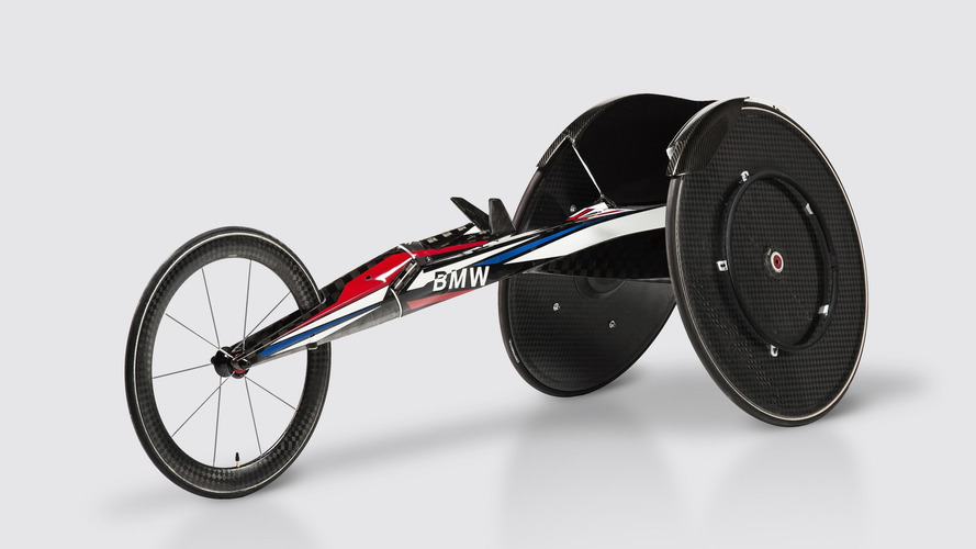 This is the BMW of Olympic racing wheelchairs, literally