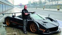 Horacio Pagani at Monza with Zonda R