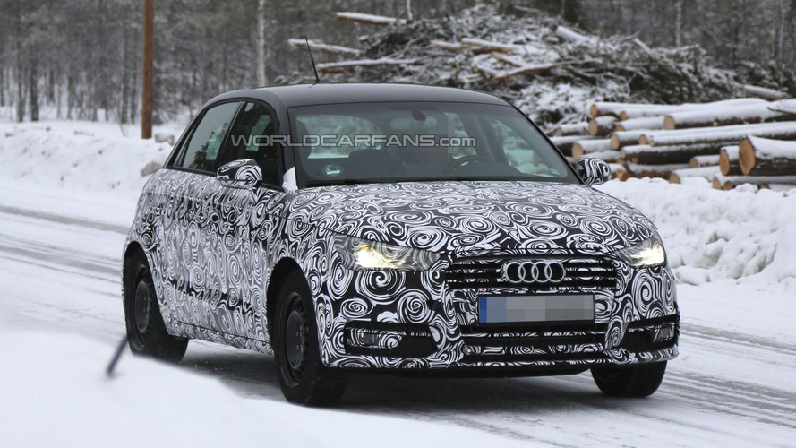 Audi A1 facelift spied undergoing cold weather testing