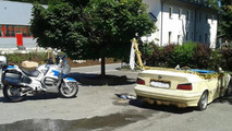 BMW 3-Series turned into a swimming pool 26.07.2013
