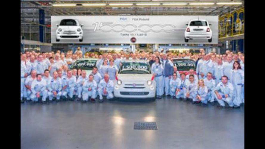 Fiat 500 festeggia il milione e mezzo di esemplari