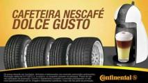 Além do cafezinho: Continental dá cafeteira NESCAFÉ Dolce Gusto para quem comprar 4 pneus da marca