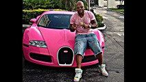 Bugatti Veyron do rapper Flo Rida ganha pintura rosa