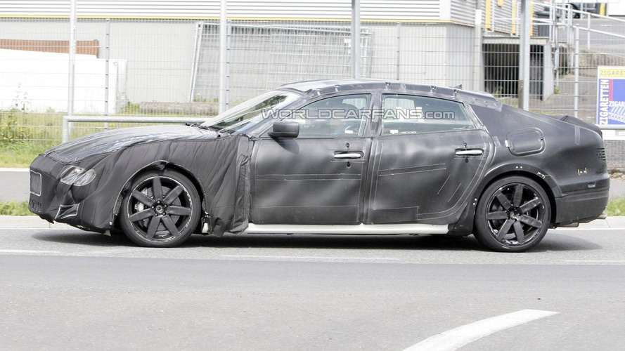 2014 Maserati Quattroporte spied showing more body shape