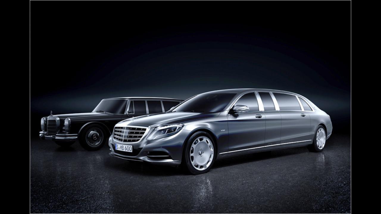 Längstes Serienauto: Mercedes-Maybach S 600 Pullman, 6,50 Meter