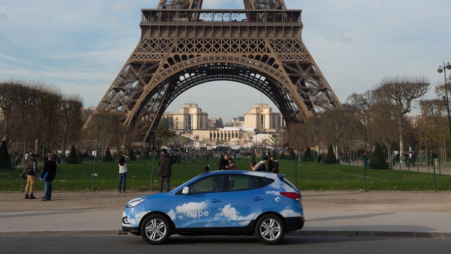 Paris'te durduracağınız taksiler Hyundai'nin yakıt hücreli araçları olabilir